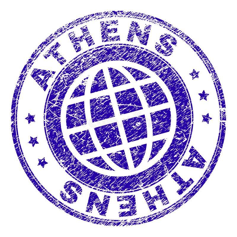 Gekraste Geweven de Zegelverbinding van ATHENE vector illustratie