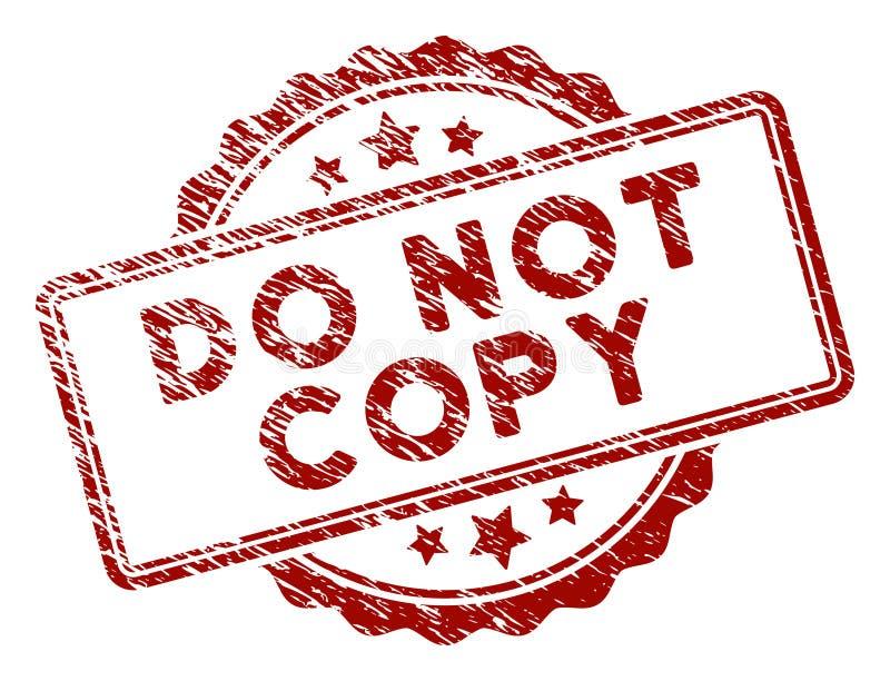 Gekraste Geweven kopieert de geen Verbinding van de Tekstzegel vector illustratie