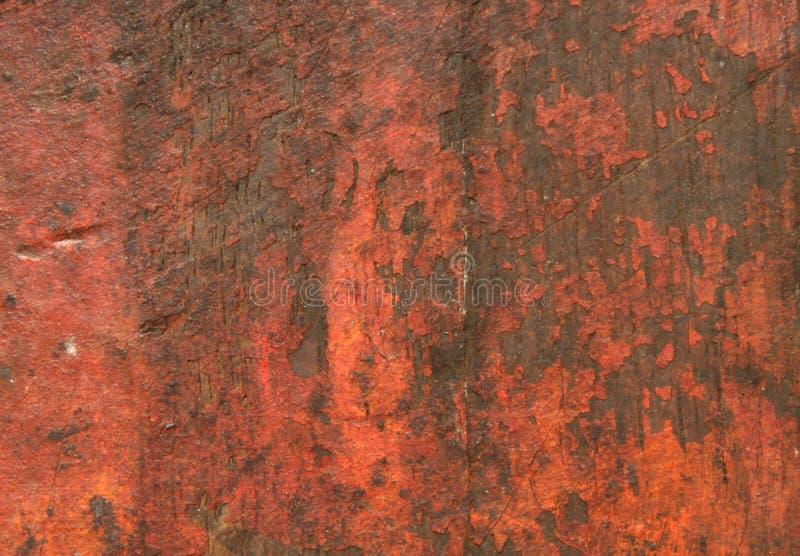 Gekraste Rode Rustieke Houten Textuur stock fotografie