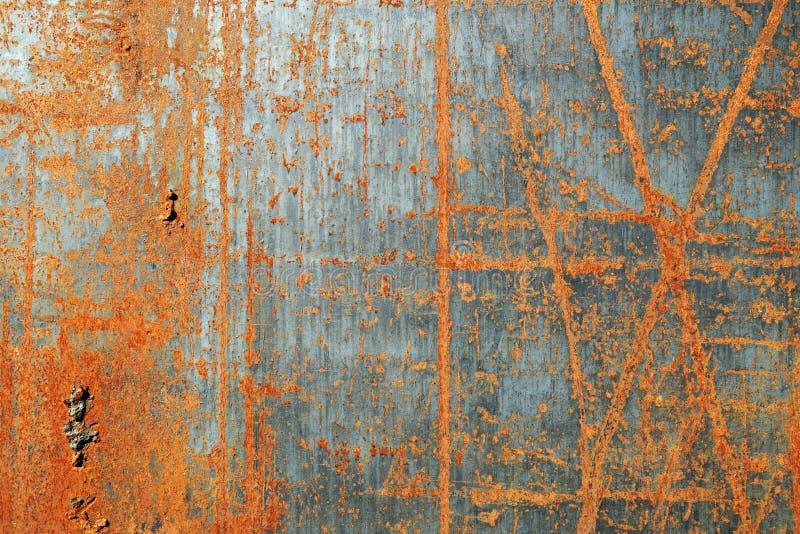 Gekraste roestige metaaltextuur stock fotografie
