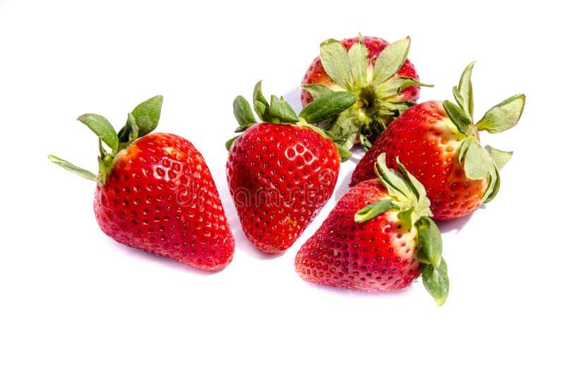 Gekregen aardbei rood goed om te eten stock fotografie