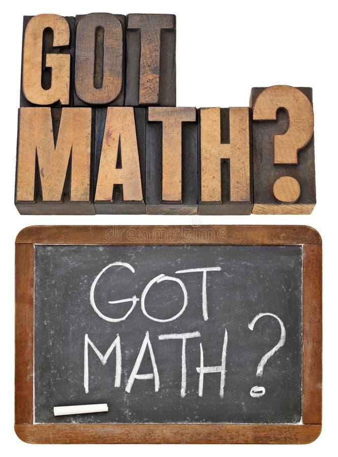 Gekregen math vraag royalty-vrije stock fotografie