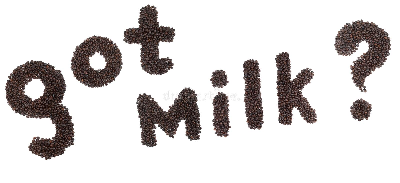Gekregen Melk stock fotografie