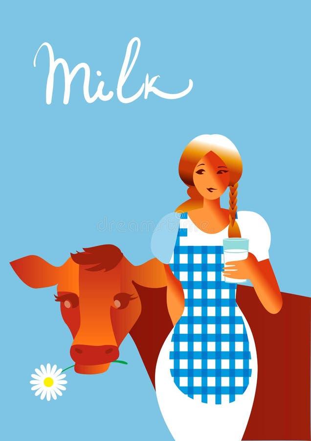 Gekregen Melk vector illustratie
