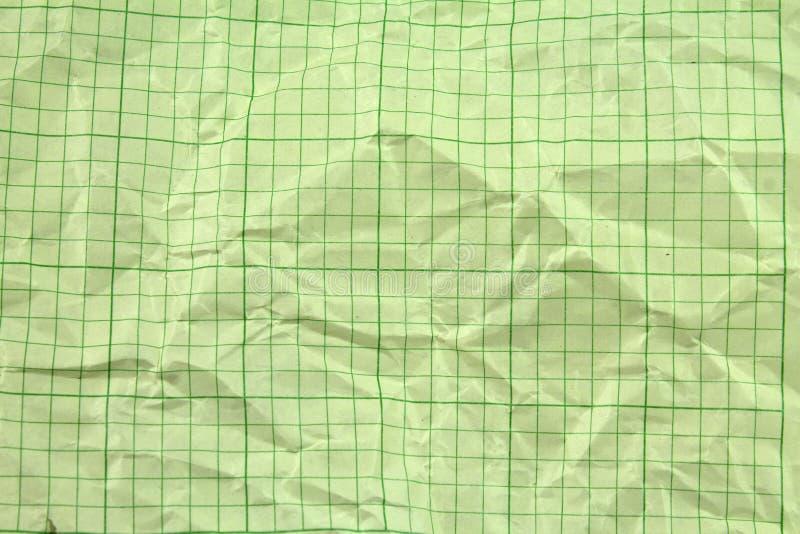 Gekreukt Geel Millimeterpapier stock foto's