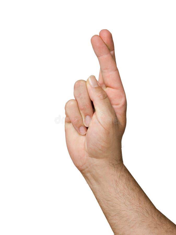 Gekreuzte Finger lizenzfreie stockbilder