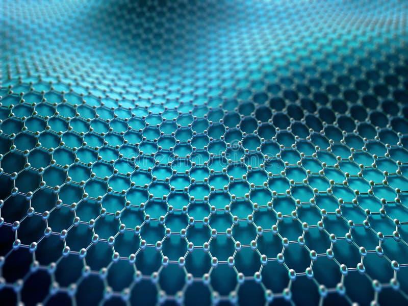 Gekristalliseerd Koolstof Hexagonaal Systeem stock illustratie