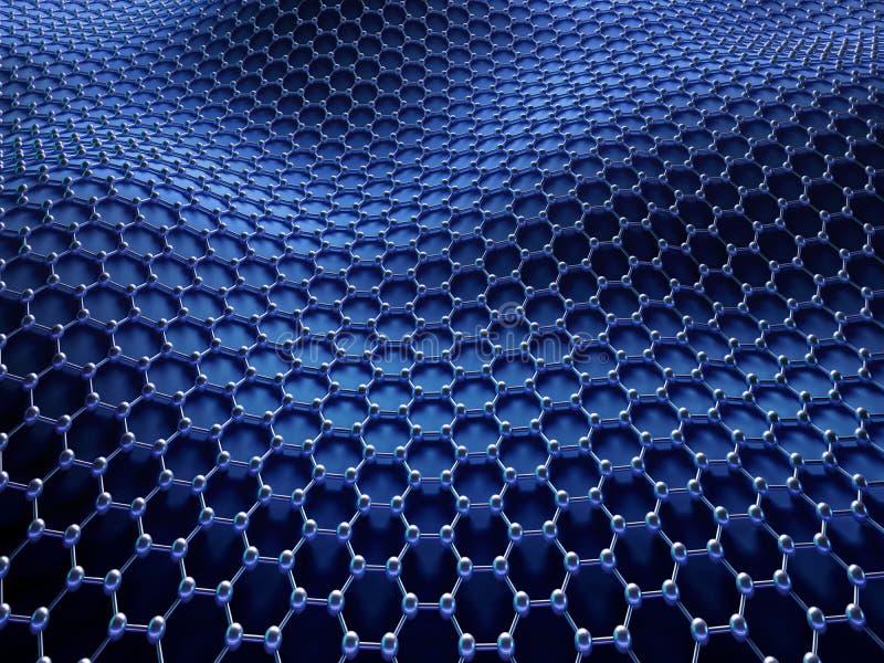 Gekristalliseerd Koolstof Hexagonaal Systeem stock afbeelding