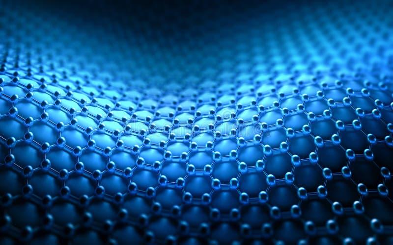 Gekristalliseerd Koolstof Hexagonaal Systeem vector illustratie
