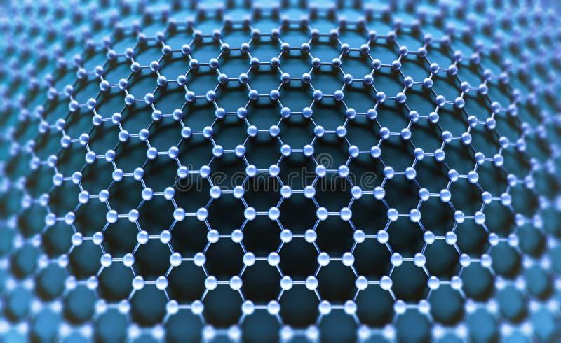 Gekristalliseerd Koolstof Hexagonaal Systeem royalty-vrije illustratie