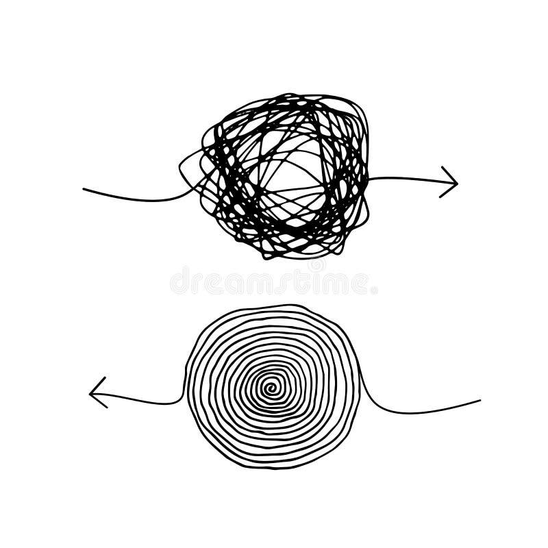 Gekritzel-geisteskranke Pfeile vektor abbildung