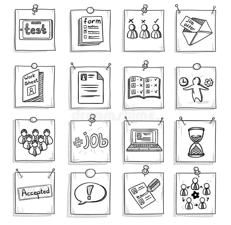 Gekritzel-Geschäfts-Karriereentwicklungs-Element-Satz vektor abbildung
