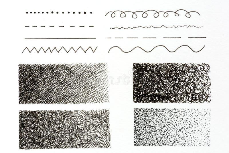 Gekritzel und Zeichnen grundlegend lizenzfreie abbildung