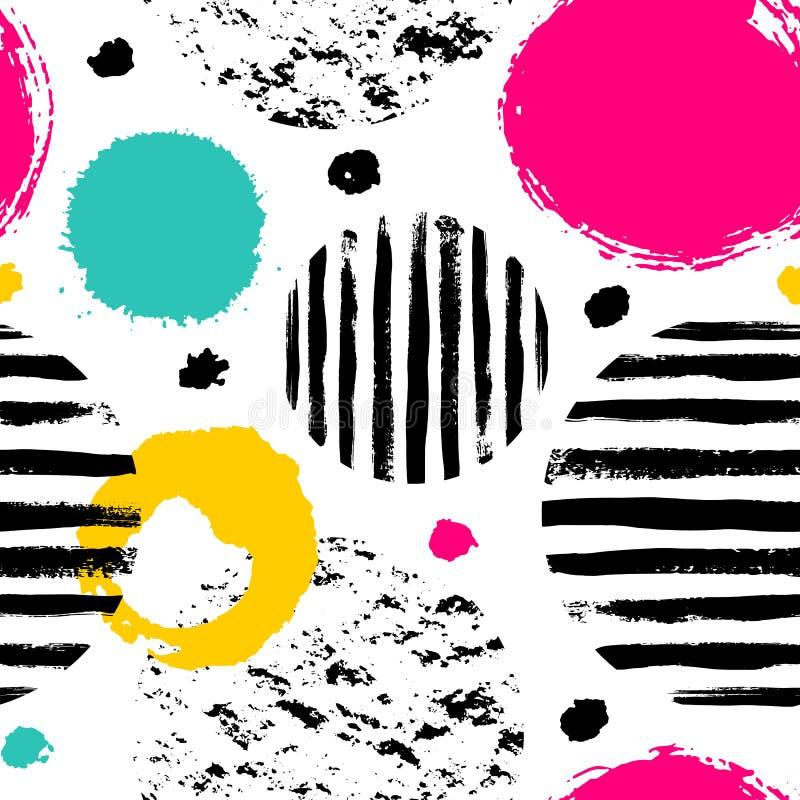 Gekritzelmuster mit Farbkreisen lizenzfreie abbildung