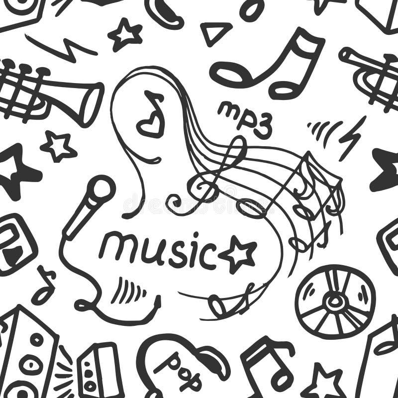 Gekritzelmustermusik stock abbildung