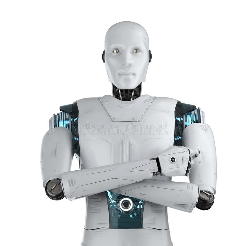 Gekruist kunstmatige intelligentiewapen stock illustratie