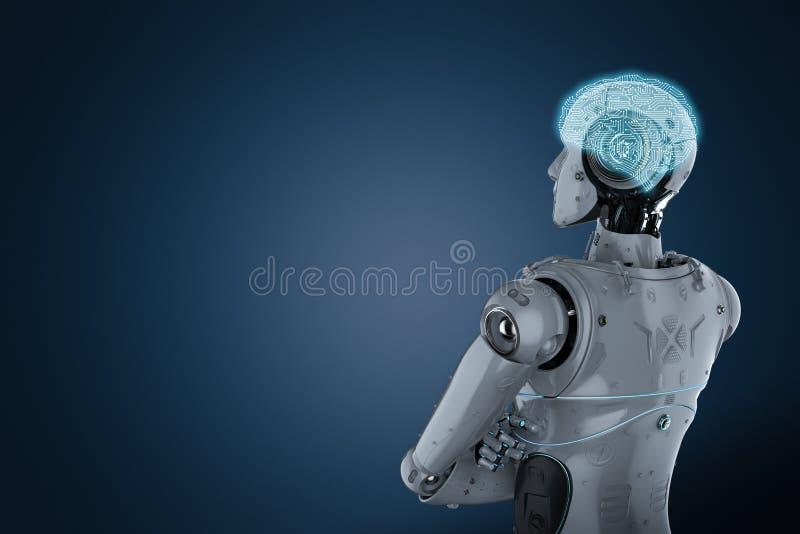Gekruist robotwapen royalty-vrije illustratie