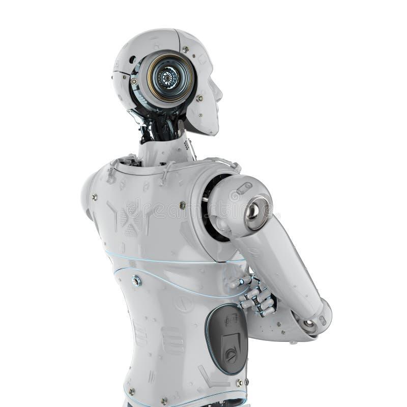 Gekruist robotwapen vector illustratie