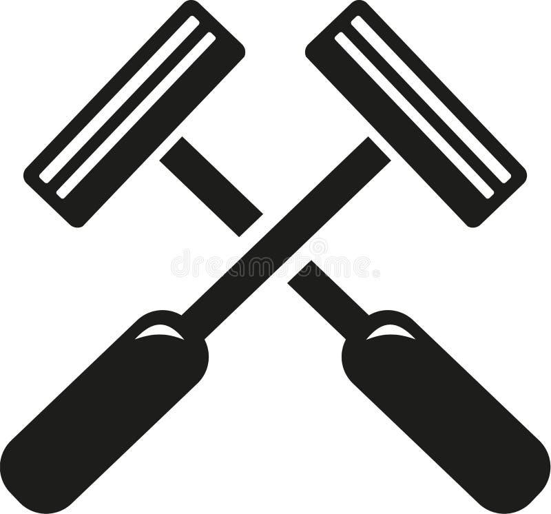 Gekruist scheermesscheerapparaat stock illustratie