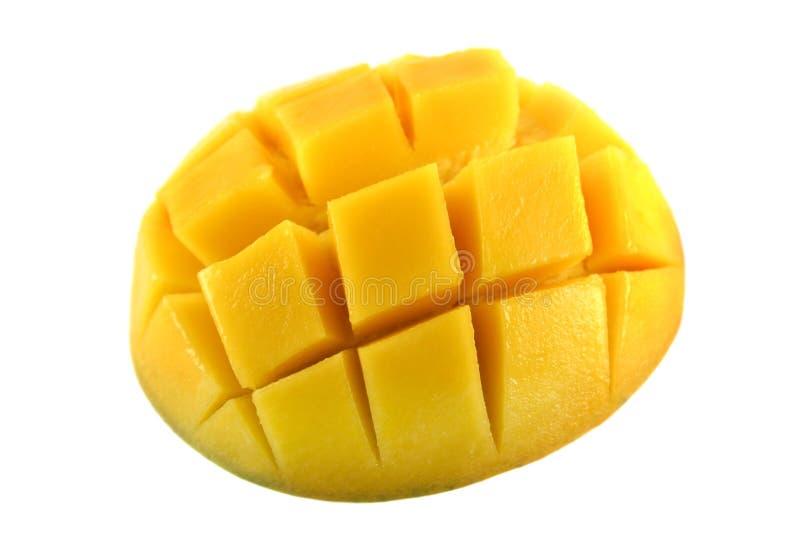Gekubeerde mango royalty-vrije stock foto's