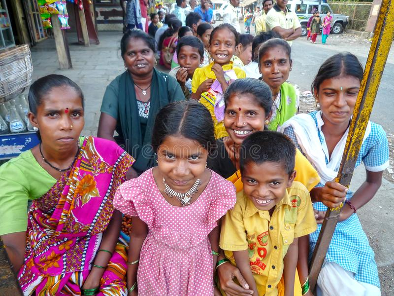 Gelächelt von den Leuten in Indien lizenzfreie stockfotografie