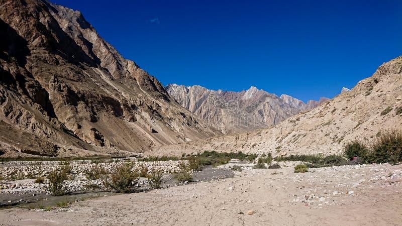 Gelände des Trekkings K2 Hinter, Karakoram-Strecke, Pakistan, Asien lizenzfreies stockbild