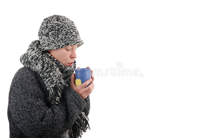 Geläufige Kälte stockfoto