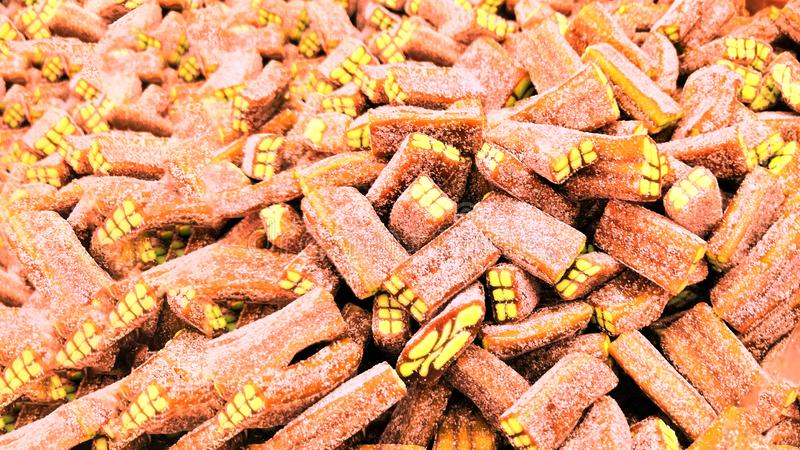 Gelée de fruit dans le marché, magasin de sucrerie photo stock