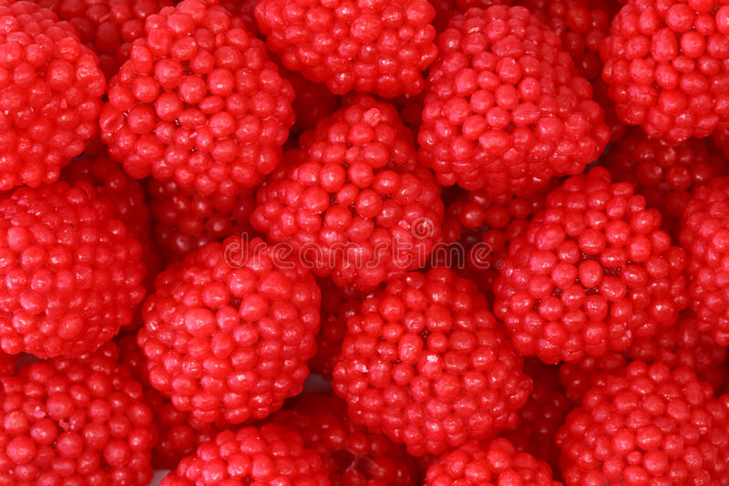 Gelée de fruit de framboises photo stock