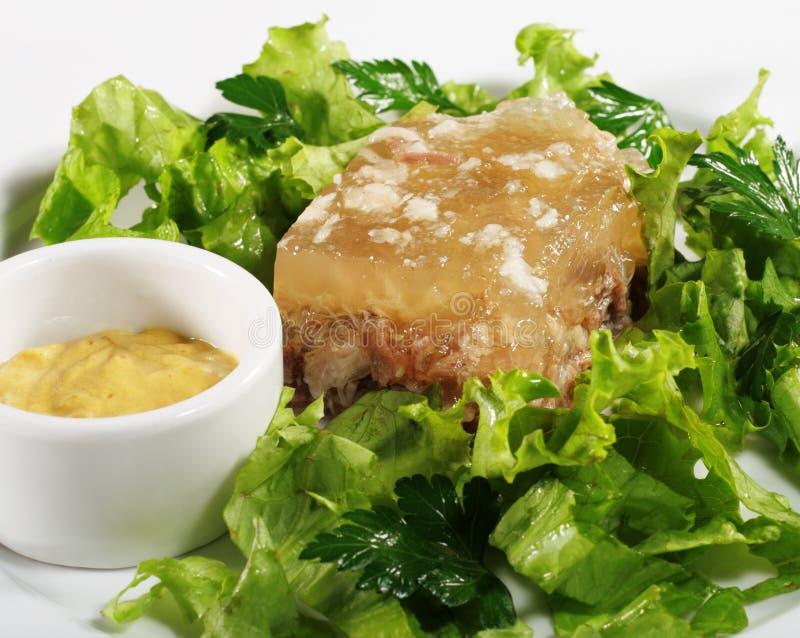 Gelée de viande photo stock