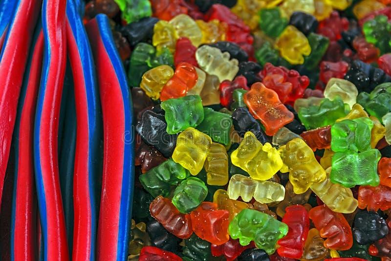 Gelées colorées 4 photos libres de droits