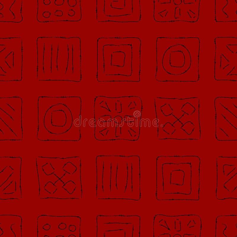 Gelöschte Symbole auf Rot vektor abbildung
