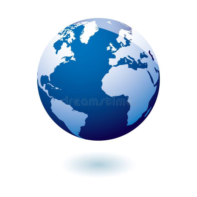 Gel azul da terra do ícone ilustração royalty free