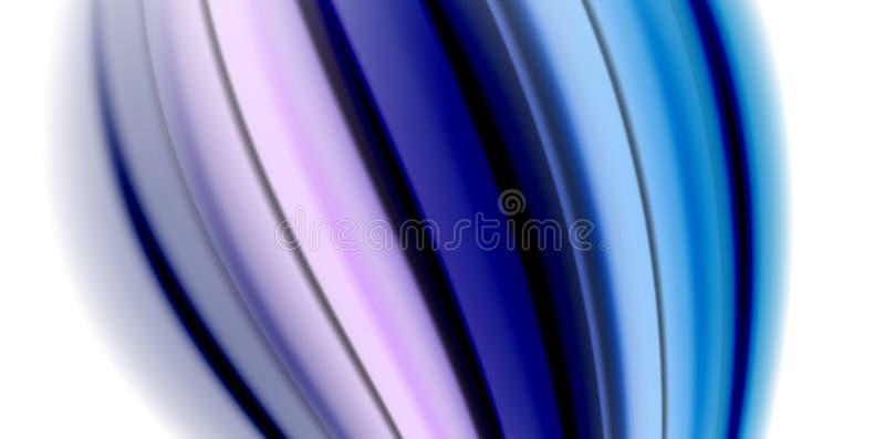 Gel bieżącego ciecza tęczy stylu galaretowi rzadkopłynni colours, falowy abstrakcjonistyczny tło, nowożytny minimalny kolorowy pr ilustracji