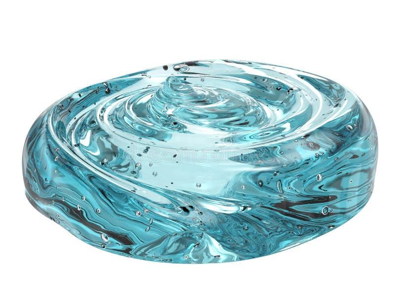 Gel cosmético azul ilustração do vetor
