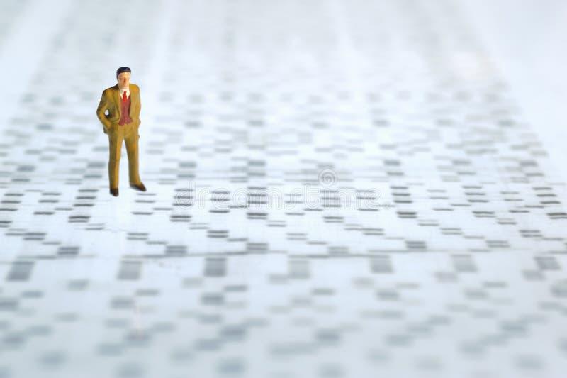 Gel da sequência do ADN fotografia de stock