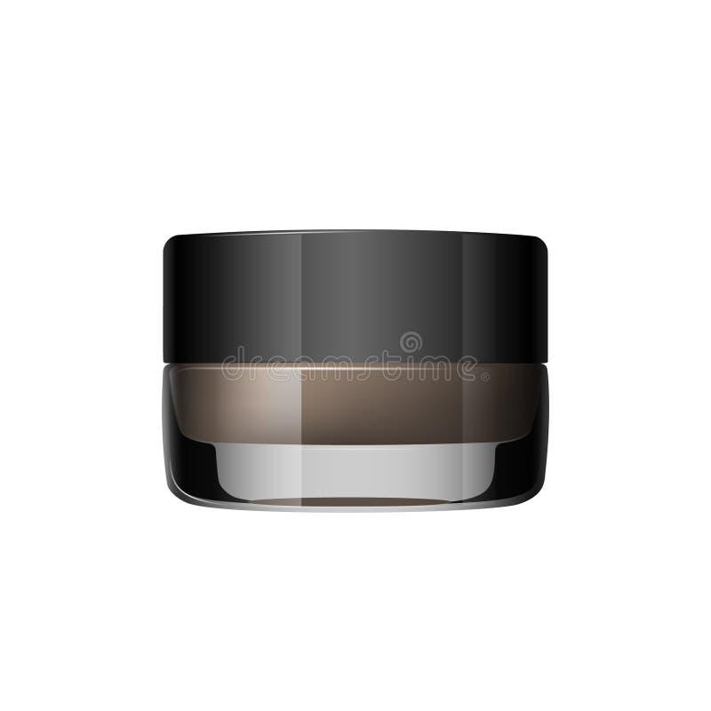 Gel de coloration pour des sourcils Produit de maquillage de sourcils D'isolement sur un fond blanc Vecteur illustration libre de droits