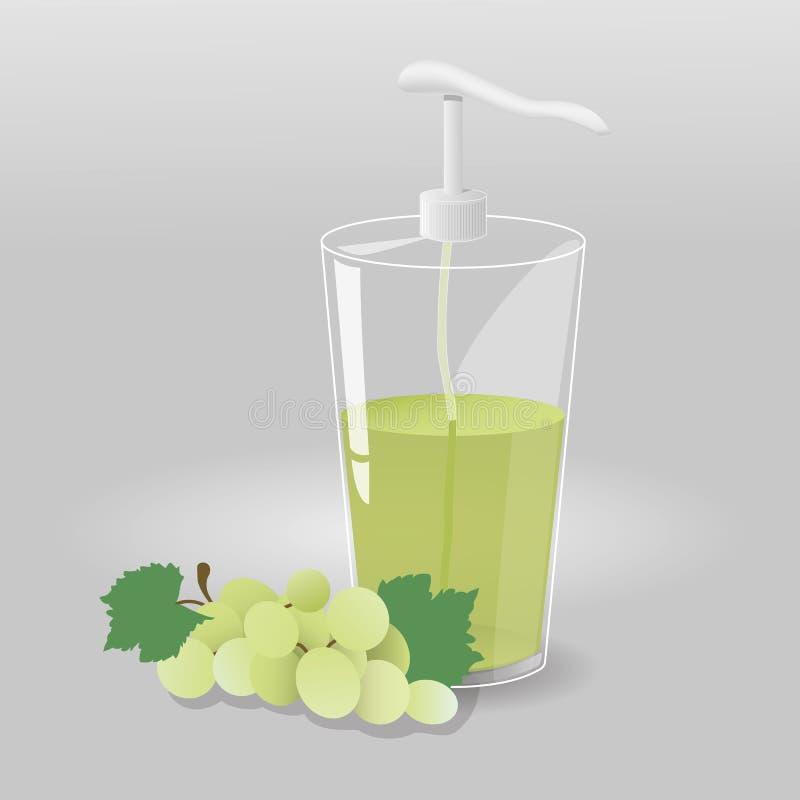 Gel della doccia con sapore dell'uva fotografia stock