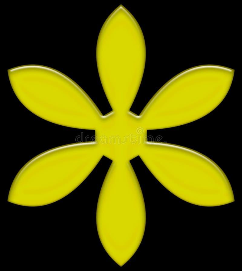 Gel giallo rosso magenta del fiore illustrazione di stock