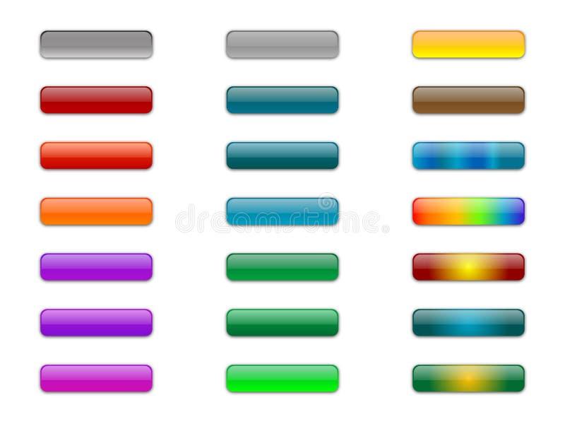Gel-Glas-Knöpfe lizenzfreie abbildung