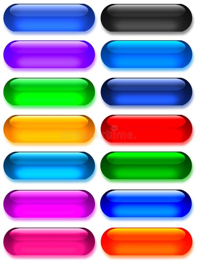 Gel grande/botones de cristal libre illustration