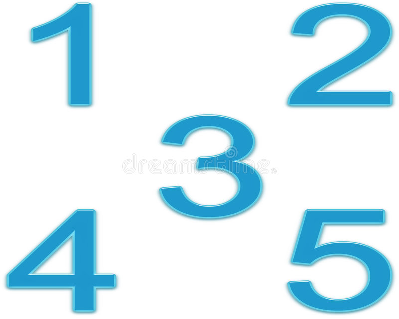 Gel Numbers Stock Photography