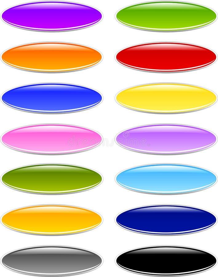 Gel o botones ovales de cristal fotos de archivo libres de regalías