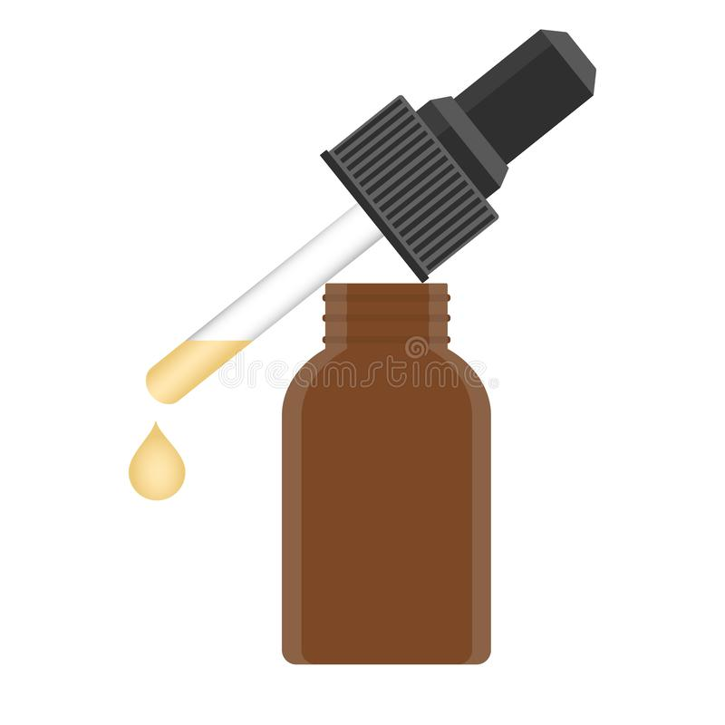 Gel ou soro líquido ilustração do vetor