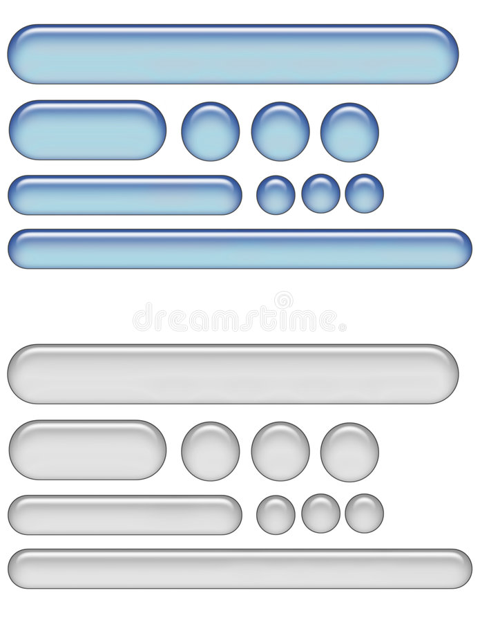 Gel web buttons royalty free stock image