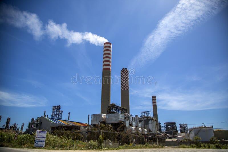 Gela rafinery royaltyfria foton