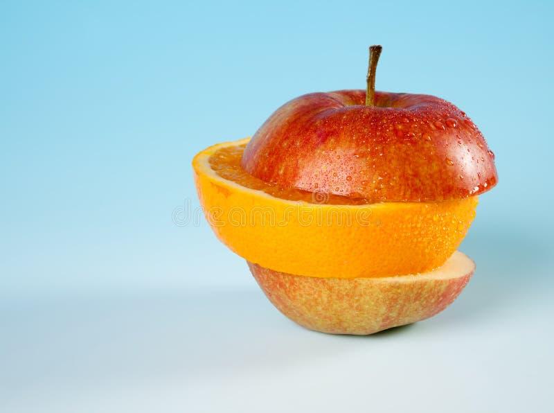 Gelaagd fruit stock afbeelding