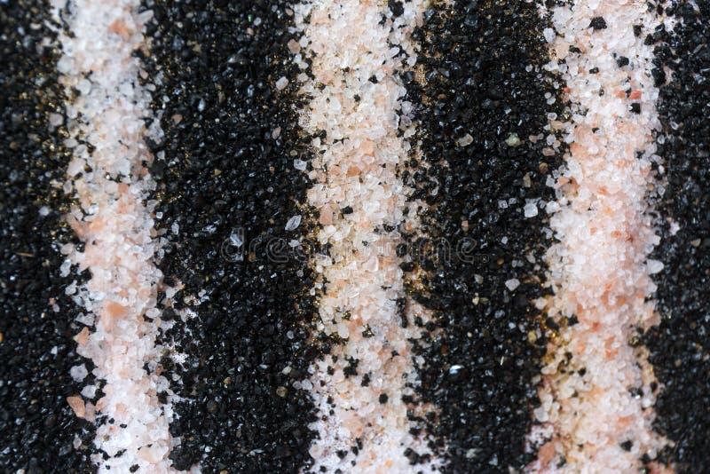 Gelaagd kleurrijk zandpatroon Marmeren stijlachtergrond Zwart-witte poedertextuur royalty-vrije stock afbeelding