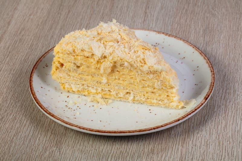Gelaagd Napoleon Cake stock fotografie