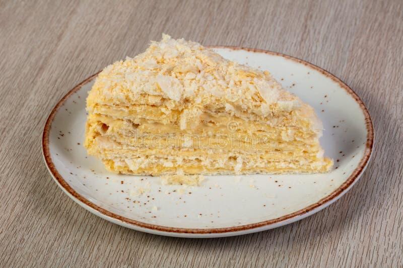 Gelaagd Napoleon Cake stock afbeelding
